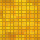 与边界和白色背景的无缝的蜂蜜金正方形马赛克 免版税库存图片