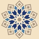 与边界的东方阿拉伯纹理设计 库存照片