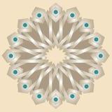 与边界的东方阿拉伯纹理设计 免版税库存图片