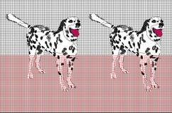 与达尔马提亚狗的滤网样式 免版税库存图片