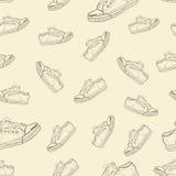 与运动鞋的无缝的纹理 库存图片