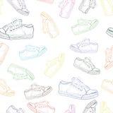 与运动鞋2的无缝的纹理 免版税图库摄影