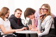 年轻企业队 免版税库存图片