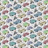 与运输汽车的反复样式 免版税库存图片