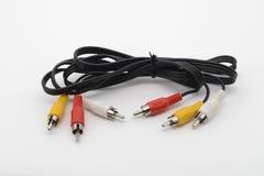 与连接器郁金香的缆绳 免版税库存照片