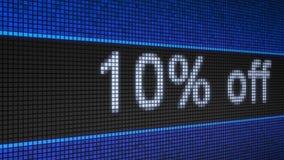 与连续文本10%的断续装置板 股票视频