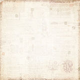 与退色的文本的古色古香的文件 库存图片