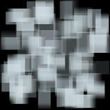 与退色的正方形的抽象背景 免版税库存图片