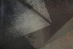 与退色的难看的东西纹理的老困厄的黑背景设计在抽象三角形状白色和灰色 向量例证