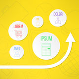 与适当的圈子的传染媒介infographic模板 免版税库存图片