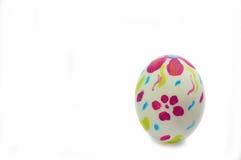 复活节彩蛋和篮子 免版税库存图片