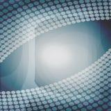 与透明小点的现代抽象设计在灰色和蓝色区域 免版税库存照片