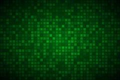 与透明正方形的现代绿色抽象传染媒介背景 库存例证