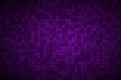 与透明正方形的黑暗的紫色抽象背景 向量例证
