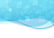 与透明波浪的蓝色背景 向量例证