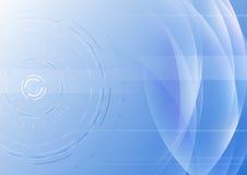 与透明波浪的高科技抽象背景 免版税库存照片
