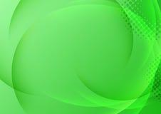 与透明波浪的绿色背景 免版税库存照片