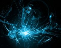 与透镜火光作用的抽象发光的背景 免版税库存图片