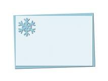 与透雕细工的雪花和的圣诞节的圣诞节蓝色卡片 免版税库存图片