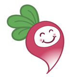 与逗人喜爱的微笑的愉快的动画片萝卜 免版税库存图片