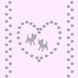与逗人喜爱的猫的无缝的样式在桃红色背景 免版税库存照片