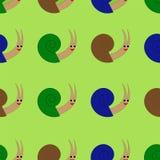 与逗人喜爱的蜗牛的无缝的样式 也corel凹道例证向量 皇族释放例证
