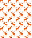 与逗人喜爱的鹿的无缝的样式,传染媒介 皇族释放例证