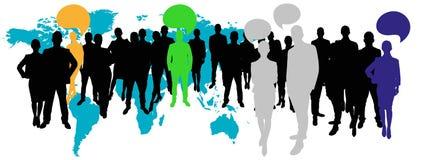 与通信概念的企业队 向量例证