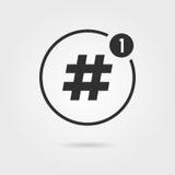 与通知的Hashtag象 库存例证