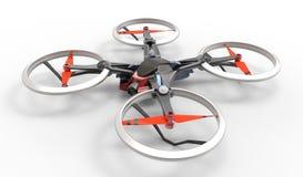 与遥控的科学幻想小说高科技寄生虫quadcopter 免版税图库摄影