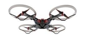 与遥控的科学幻想小说高科技寄生虫quadcopter 库存照片