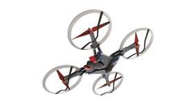 与遥控的科学幻想小说高科技寄生虫quadcopter 图库摄影