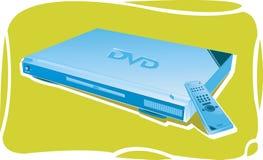 与遥控的DVD机 库存照片