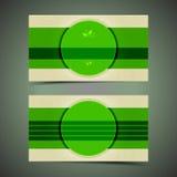 与邮票的绿色现代名片 免版税图库摄影