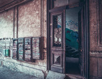 与邮箱的老进口 库存照片