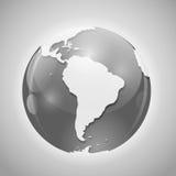 与邮件传染媒介例证的地球 免版税图库摄影