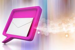 与邮件的讲话泡影 免版税图库摄影