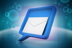 与邮件的讲话泡影 免版税库存图片