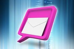 与邮件的讲话泡影 库存照片