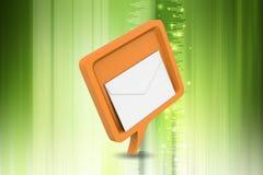 与邮件的讲话泡影 库存图片