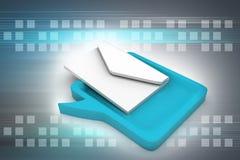 与邮件的讲话泡影 免版税库存照片