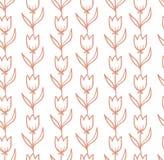 与郁金香的传染媒介无缝的样式 库存照片