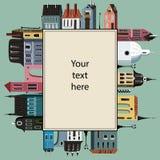 与都市主题的一个框架 免版税库存照片