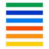 与配色的按钮/横幅长方形 定位 向量例证