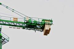 与配重的建筑用起重机零件 库存图片