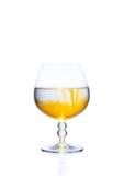 与酒精的一块玻璃 库存照片