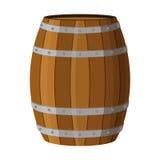 与酒精的木桶喝兰姆酒,白兰地酒,龙舌兰酒,酒, 免版税图库摄影