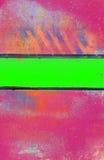 与酸绿色条纹的脏的桃红色背景 免版税图库摄影