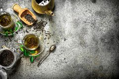 与酿酒者的新鲜的印地安茶 库存照片
