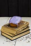 与釉的蛋糕 库存照片